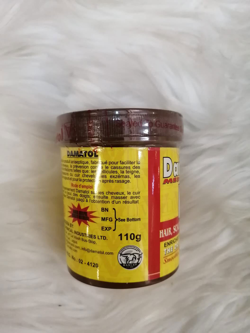 Damatol hair product
