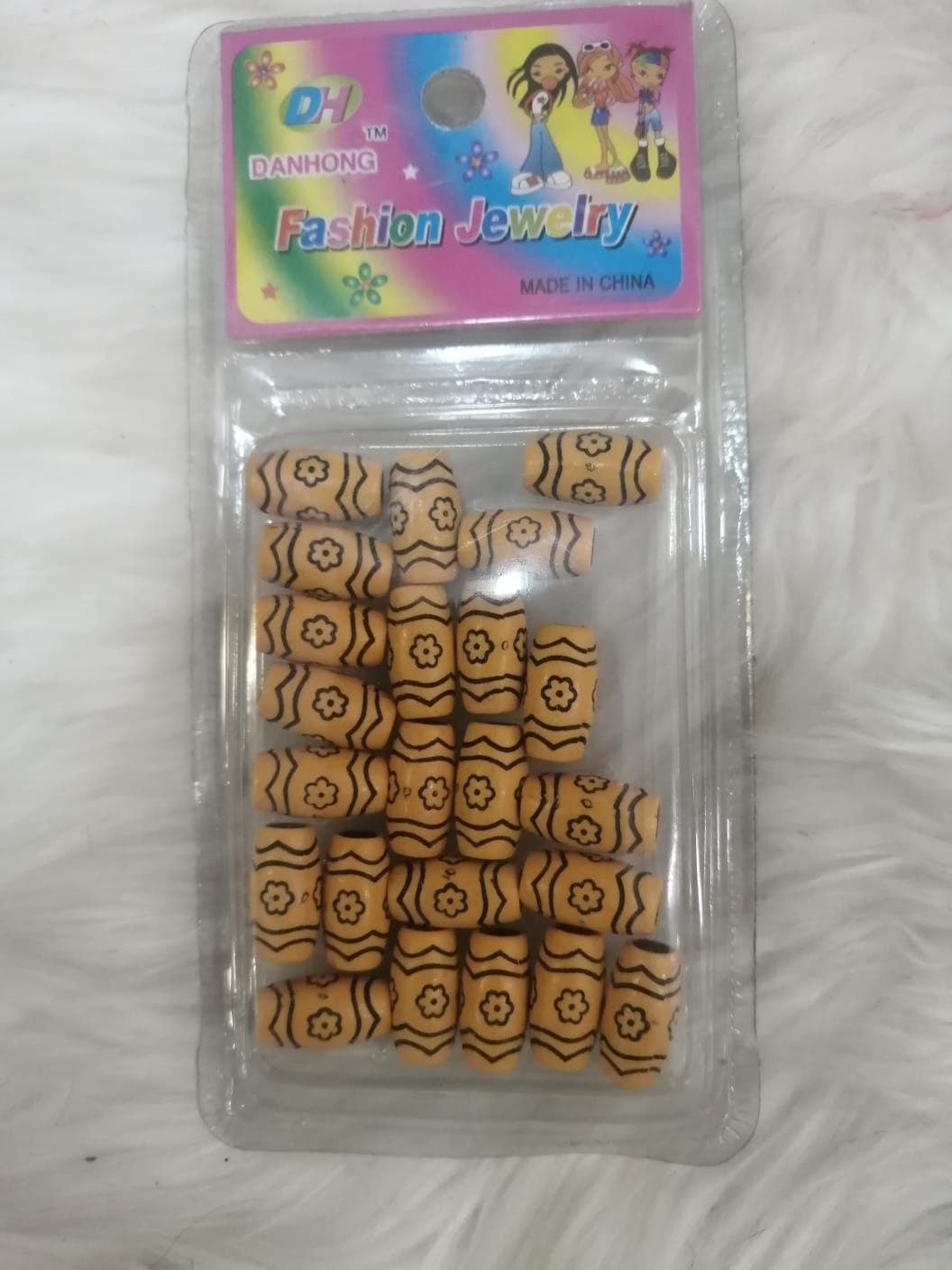 Danhong Fashion Jewelry Hair bead in Gold patterns