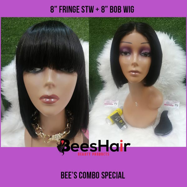 Fringe Stw Wig and Brazilian Bob Wig Combo Special